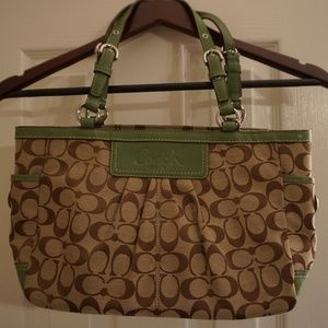 COACH Signature Collection Medium Tote - Green